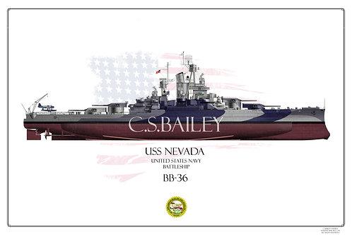 USS Nevada Dazzle FH Print