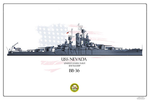 USS Nevada MS-21 Print