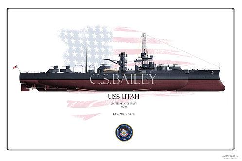 USS Utah AG-16 FH print