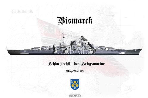 Bismarck Baltic Camo Full WL t-shirt