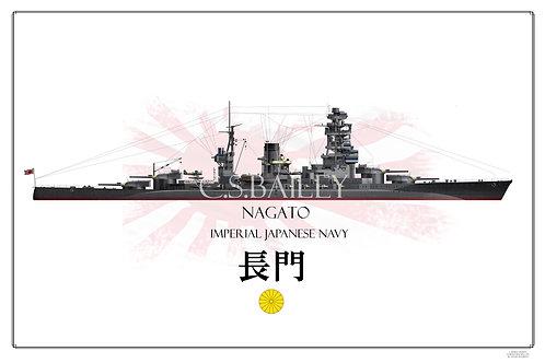 IJN Nagato WL Print