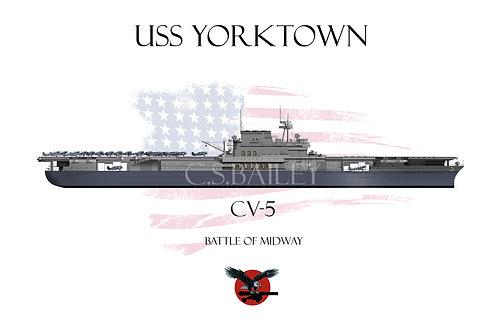 USS Yorktown WL T-shirt