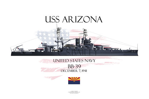 USS Arizona BB-39 T-shirt