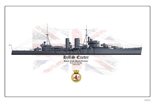 HMS Exeter Print