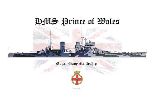HMS Prince of Wales W/L t-shirt