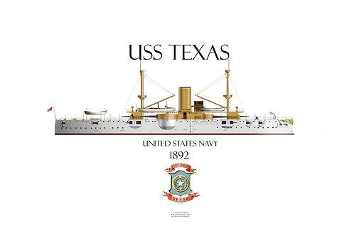 USS Texas 1895 WL T-shirt