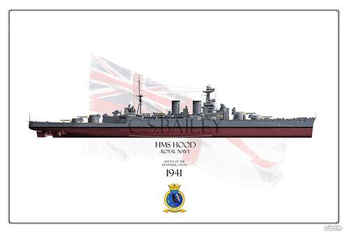 HMS Hood FH Print