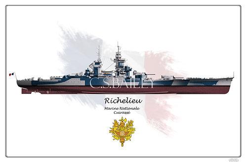 Richelieu Dazzle Blue FH print