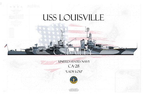 USS Louisville CA-28  Dazzle WL T-shirt