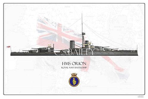 HMS Orion WL  print