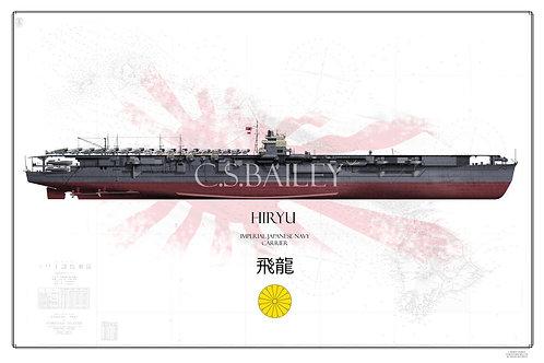 IJN Hiryu Pearl Harbor Raid FH Print