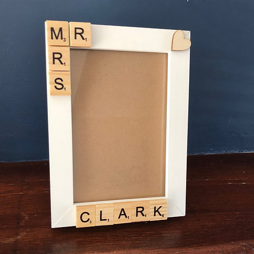 Mr & Mrs Personalisable Frame