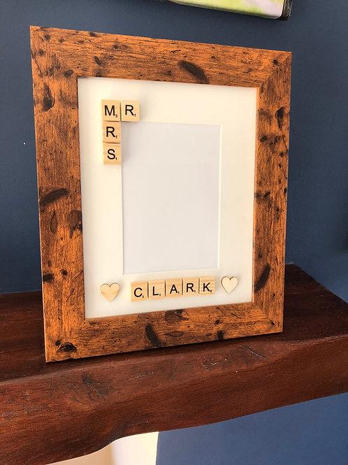 Mr & Mrs 7x5 Wooden Frame