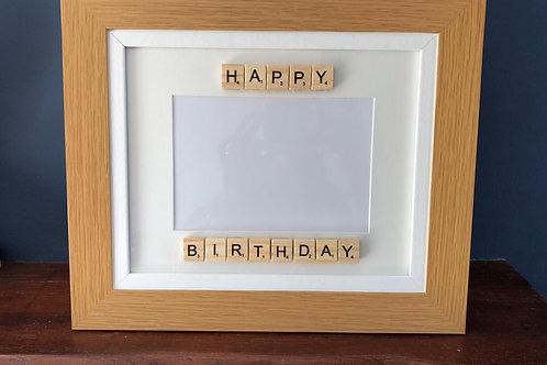 Happy Birthday Wooden Frame 7x5