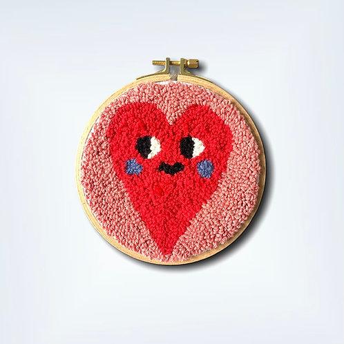 Gesticktes Wandbild 'HEART'