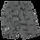 Thumbnail: Jersey-Shorts mit Katzenmuster