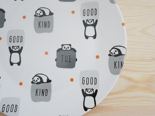 Kleiner Teller mit Pandamuster
