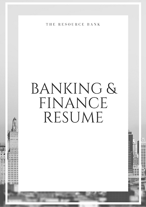 Investment Banking CV Example + Top Tips