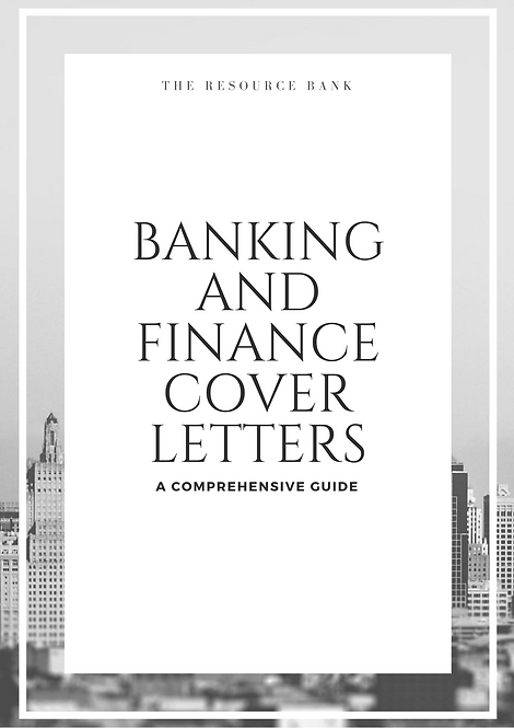 Banking & Finance Cover Letter Guide (8 Examples)