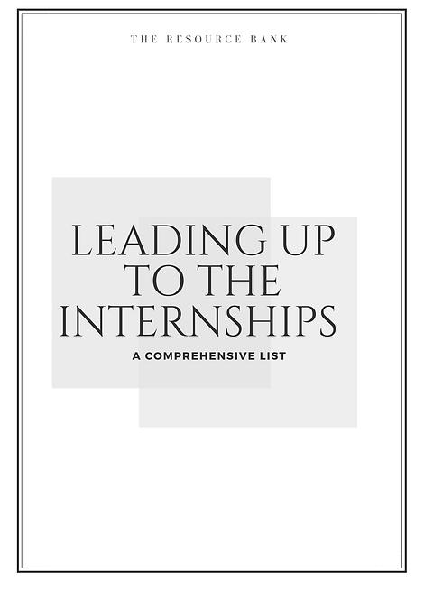 Leading Up to The Internships (UK Students)