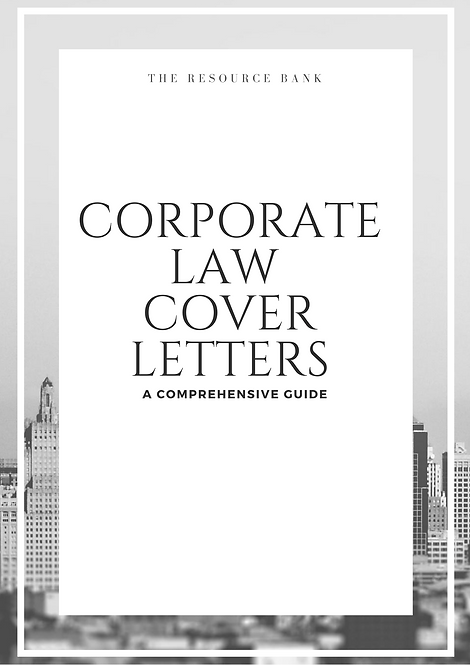 Corporate Law Cover Letter Guide (5 Examples)