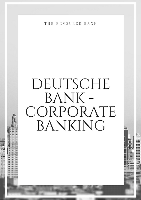 Example Deutsche Bank - Corporate Banking Cover Letter