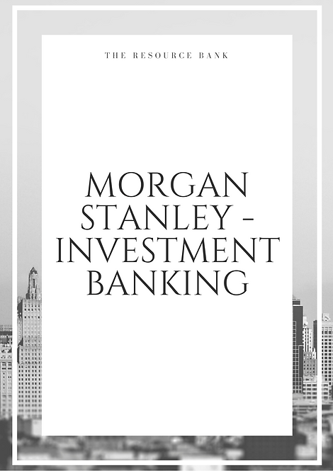 Example Morgan Stanley - Investment Banking Cover Letter