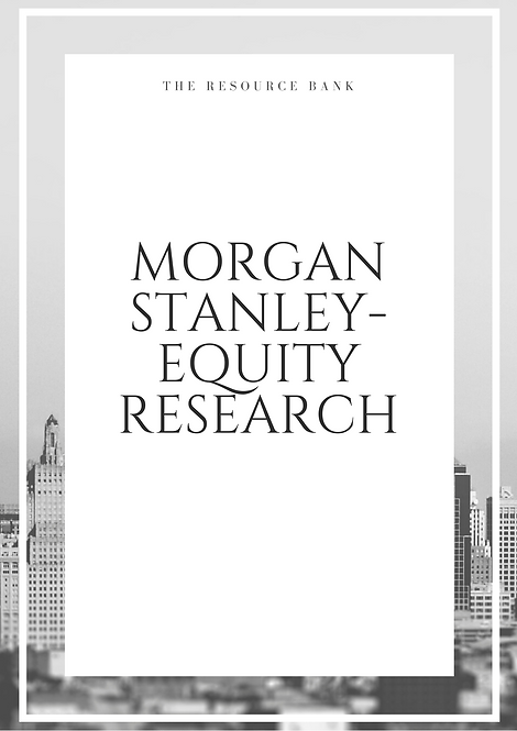 Example Morgan Stanley - Equity Research Cover Letter