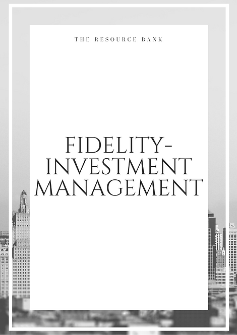 Example Fidelity - Investment Management Cover Letter
