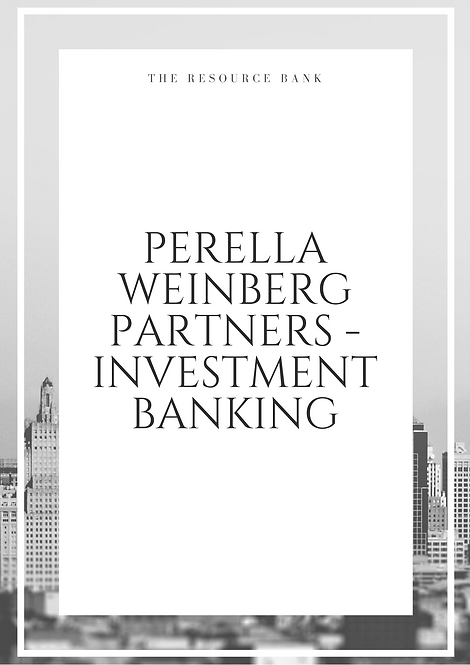 Example PWP - Investment Banking Cover Letter