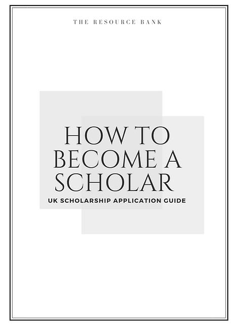 UK Undergraduate Scholarship Guide (UK Students ONLY)