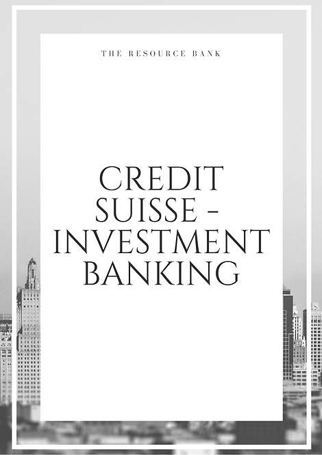 Example Credit Suisse - Investment Banking Cover Letter