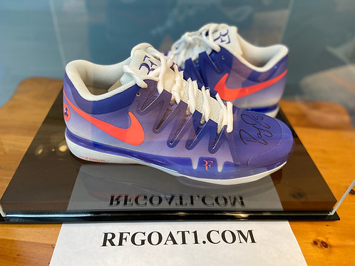 Roger Federer Custom Signed PE Match Nike Shoes 2015 French Open