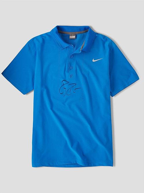 Roger Federer Match Worn Signed Nike Shirt US Open 2007
