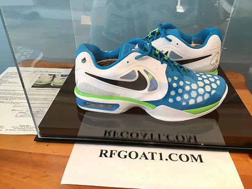 Rafael Nadal Custom Signed PE Match Nike Shoes 2012 Australian Open