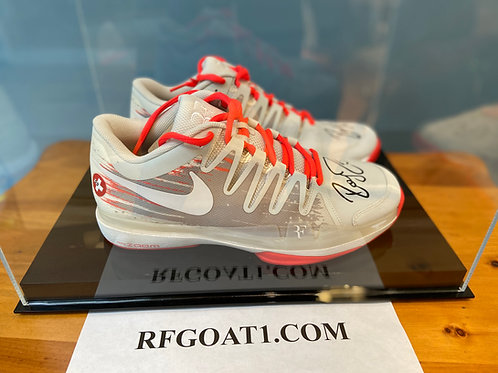 Roger Federer Custom Signed PE Match Nike Shoes 2014 French Open