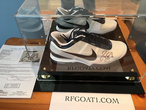 Roger Federer Match Worn Signed Custom PE Nike Shoe Indian Wells