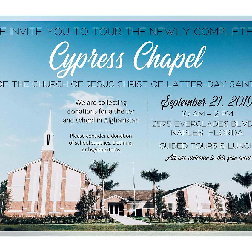 Cypress Chapel Open House, Tour, and Lunch