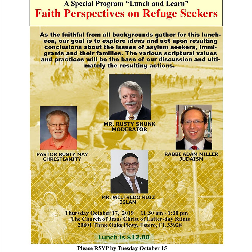 Lunch & Learn: Faith Perspectives on Refuge Seekers