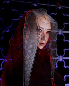 cyberpunk portrait. //