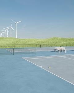 tennis court. //