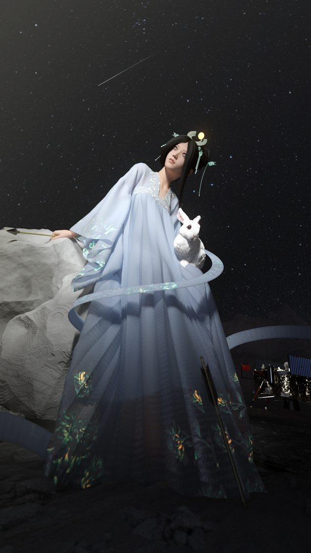 chang'e the moon goddess. //