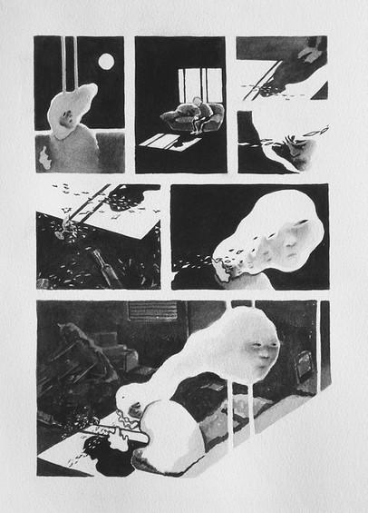 """headache, 9"""" x 12"""", 2009"""