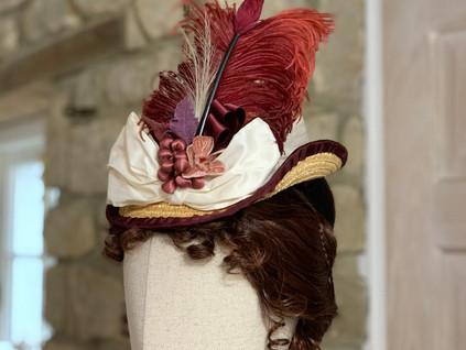 Victorian Bustle Era percher Hat (19)