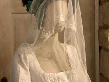 Antique lace Bonnet Veil (26)