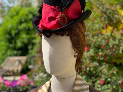 Victorian Riding Style Hat (4)