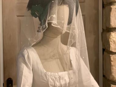 Antique lace bonnet veil (27)