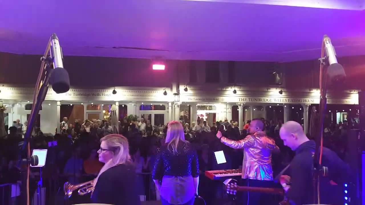 Bonkers crowd at Jazz on The Pantiles (Tonbrigde Wells)