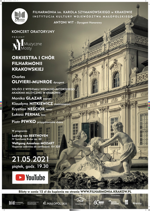 Tonight! Charles conducts Mozart`s Vesperae Solennes de Confessore with the Cracow Philharmonic