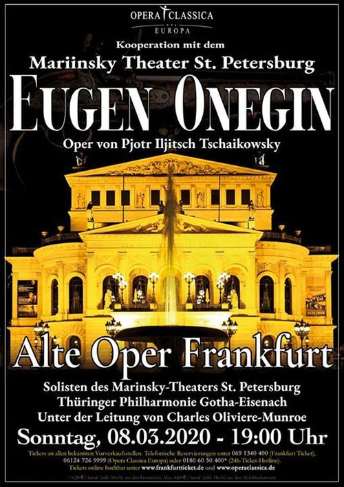 Tonight! Charles conducts Evgeny Onegin at the Frankfurt Alte-Oper